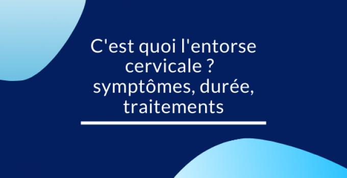 entorse cervicale